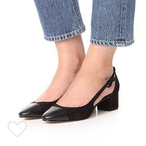 Sam Edelman black slingback cap toe heel
